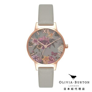 オリビアバートン 腕時計 日本正規総代理店 Olivia Burton ダークブーケ グレー & ローズゴールド オリビアバートン 日本正規総代理店 記念日 ギフト プレゼント 新生活 贈り物 時計