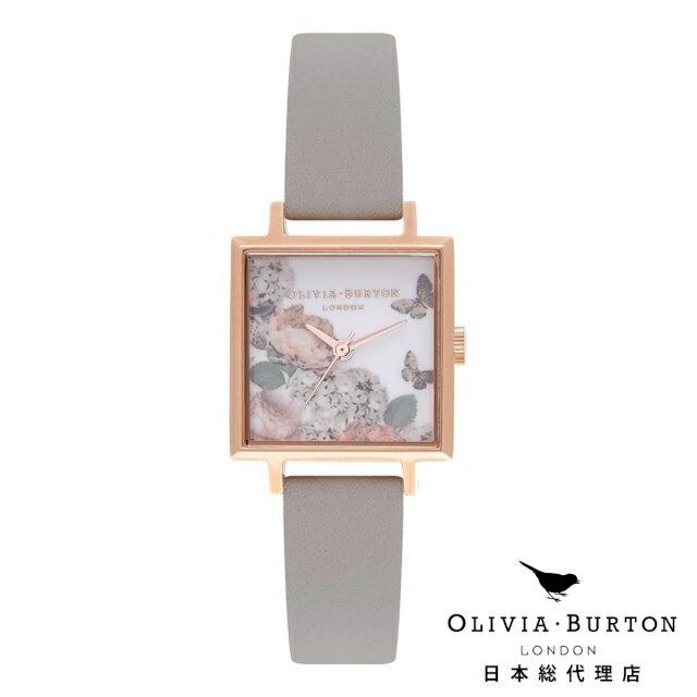 オリビアバートン 腕時計 日本正規総代理店 Olivia Burton シグニチャー フローラル グレー & ローズゴールド オリビアバートン 日本正規総代理店 記念日 ギフト プレゼント 新生活 贈り物 時計