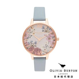 [美人百花2020年7月号掲載] オリビアバートン レディース 時計 Olivia Burton 腕時計 ブリティッシュ ブルームズ チョークブルー & ローズゴールド 母の日 ギフト