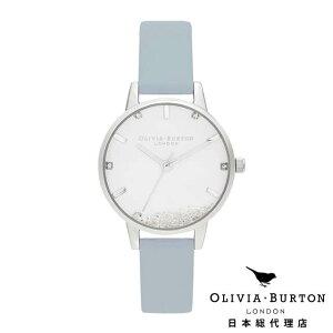 オリビアバートン レディース 時計 Olivia Burton 腕時計 ウィッシング ウォッチ - ヴィーガン チョークブルー & シルバー