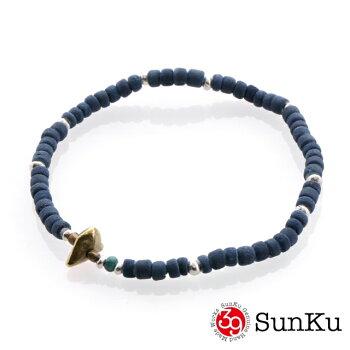 SunKu39【サンク】インディゴダイビーズアンクレット