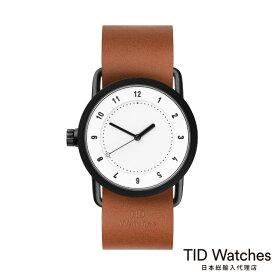 [ボールペンプレゼント]ティッドウォッチズ【TID Watches】 腕時計 メンズ レディース No.1 White / レザー ベルト ブラウン 36mm