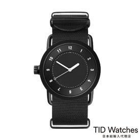 ティッドウォッチズ【TID Watches】 腕時計 メンズ レディース No.1 Black / ブラック ナイロン ベルト 36mm