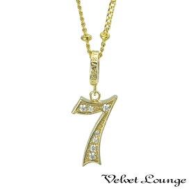 ヴェルヴェットラウンジ【Velvet Lounge】グッド ラック ナンバー ペンダント 「7」 K18/ダイヤモンド