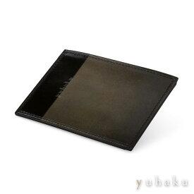 ユハク【YUHAKU】ルチェ エ オンブラ 定期入れ パスケース グレー 本革(ベビーキップスキン)