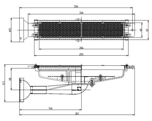 リンナイ 荒磯用(RGA) ガス赤外線バーナーユニット R-420-7