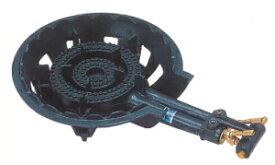 鋳物コンロ 二重 羽根無し・種火無し ガスバーナー ガスコンロ 普及タイプ 底枠付 SB201 ホースエンド固定式 タチバナ製作所 TS-210同等品