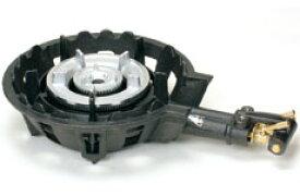 タチバナ製作所 鋳物コンロ(ハイカロリータイプ) 二重羽根付 種火無し 底枠付 TS-208 ホースエンド固定式 (業務用ガスバーナー)