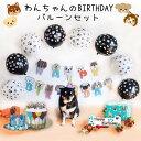 送料無料☆ペットのワンちゃんの誕生日バルーンセット 犬用 ワンコグッズ 犬好き DOG BIRTHDAY 愛犬 誕生日パーティー…