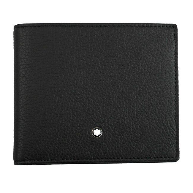 MONTBLANC モンブラン U114464 二つ折り財布 ブラック MST ソフトグレインウォレット 8CC 【RCP】