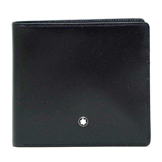 MONTBLANC モンブラン 7163 二つ折財布 ブラック ウォレット 8cc 【送料無料】 【RCP】