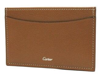 Cartier L3001044 카드 케이스 카라멜 카르티에