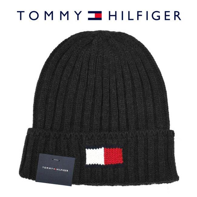 【メール便は送料無料】 TOMMY HILFIGER トミーヒルフィガー H8H73210 015 ニットキャップ Knit Logo Cuff Hat チャコール メンズ レディース ユニセックス ニット帽 ロゴ 【RCP】