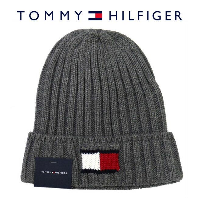 【メール便は送料無料】 TOMMY HILFIGER トミーヒルフィガー H8H73210 040 ニットキャップ Knit Logo Cuff Hat シルバー グレー メンズ レディース ユニセックス ニット帽 ロゴ 【RCP】
