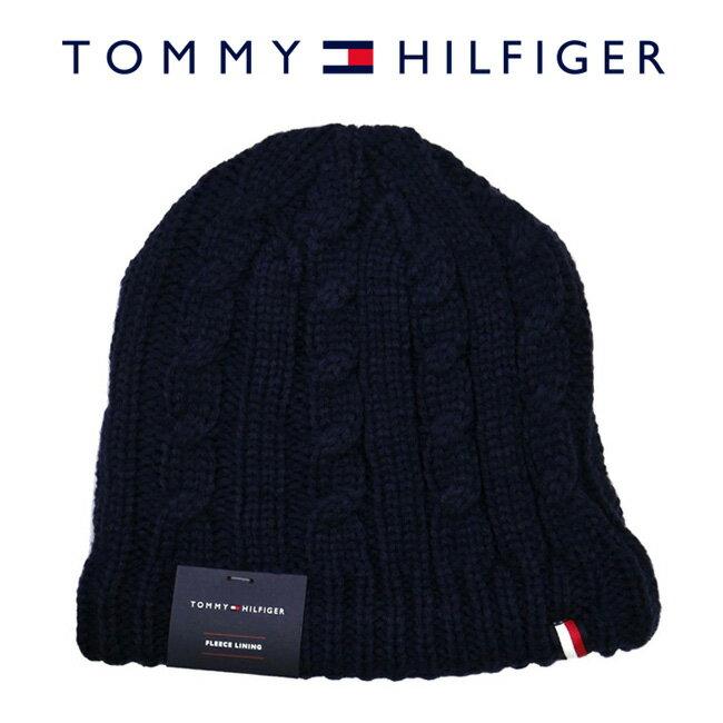 TOMMY HILFIGER トミーヒルフィガー H8H73226 411 ニットキャップ Cuff Hat Exp Seam Crown ネイビー メンズ レディース ユニセックス ニット帽 ロゴ ワンポイント 【RCP】