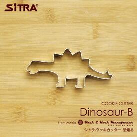 P2倍 クッキー型 「恐竜」B 怪獣 ステンレスヨーロッパで 人気 の おしゃれ で かわいい 珍しい クッキー 型を取り寄せました!楽しい ステイホーム お菓子 作りに! 手作りクッキー プレゼントに! SiTRA シトラ