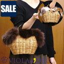 【SALE セール 20%OFF】VIOLAd'ORO ヴィオラドーロ VOLPE ヴォルぺ ファーかごバッグ v8216