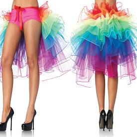 ダンススカート ジャズチュチュスカート 虹色 ミニ丈♪ミニスカート/チュールスカート/ゴム入りのウエスト/ショートスカート/チュチュスカート/フェミニン/レイヤリング/ふんわり、夢みたい/春夏/レディース/カラフルなビーチのドレス