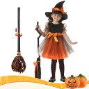子供衣 ハロウィン コスプレ 子供ドレス ワンピース Halloween 演出服 お姫様 コスプレ衣装 魔女 子供 可愛い 小悪魔…