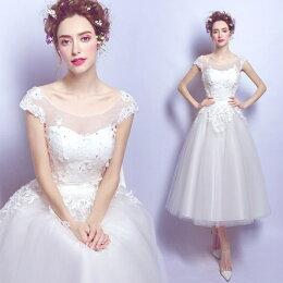 「ドレス二次会花嫁花嫁ドレス編み上げタイプウエディングドレス二次会ミニドレスウェディングドレスパーティードレス・結婚式・二次会ミニドレスウエディングドレス花嫁ドレスドレス