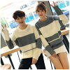 In Mr. and Mrs. immediate delivery knit crew neck knit sweater couple matching lover family memory friend warmth worth / cold protection classmate knit color sweater pair look matching lady's men man and woman combined use couple tops matching thing whit