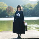 入学式 スーツ 卒業式 女の子 セーラー服 コスチューム ロング 長袖 パーティーグッズ コスプレ 3点セット コスチ…