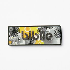 biblle ビブル イエローフラワー×ブラッック 忘れ物防止タグ キーファインダー アプリ無料 みまもり 位置情報確認 Bluetooth接続 スマホ連携 電池交換できる紛失防止タグ ボタン電池で約半年使える グッドデザイン賞受賞 ブラウザでもチェック 軽量 日本製
