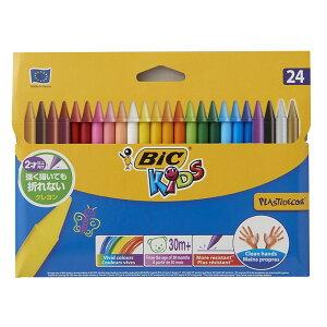 【公式】 BIC クレヨン 全24色 セット ワックスクレヨン ビックキッズ 安全 文房具 文具 筆記用具 おしゃれ かわいい プレゼント ギフト 男の子 女の子 子供 折れにくい 汚れにくい 書きやすい