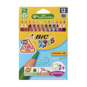 BIC(ビック)ビックキッズさんかく軸色鉛筆12色WI1300-084P12