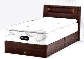 シモンズベッド セミダブルサイズツインコレクション2019シェルフ35 セミダブルベッド引出し収納付きベッド片面ピロートップ高級ホテル仕様