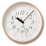 シンプル中に感じるデザイナーのこだわりウォールクロックリキクロック電波時計(RIKICLOCKRC)WR07-10タカタレムノス(TAKATALemnos)
