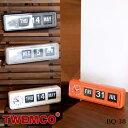 BQ-38 WALL&TABLE CLOCK(ウォール&テーブルクロック) パタパタクロック TWEMCO(トゥエンコ) カラー(ホワイト・ブラック・オレンジ・...