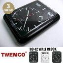 RC-12 WALL CLOCK(電波ウォールクロック) パタパタクロック TWEMCO(トゥエンコ) カラー(ホワイト・ブラック) 送料無料