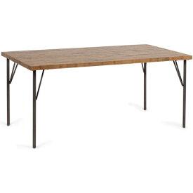 ダイニングテーブル 幅160cm カーティスダイニングテーブル160 Curtis Dining Table 160 ビメイクス BIMAKES テーブル 木製 単体 4人掛け 6人掛け パイン無垢材 ナチュラル ブラウン 古材風 ビンテージ レトロ インダストリアル 【送料無料】