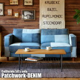 50年代のアンティークジーンズをモチーフ!CALIFORNIA50'sSOFAPatchwork-DENIM(カリフォルニア50'sソファパッチワークデニム)BIMAKES(ビメイクス)送料無料
