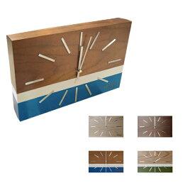 置き掛け時計 ラブレアクロック NA-001 LABREA CLOCK ハモサ HERMOSA ウッド スイープムーブメント 北欧 シンプル おしゃれ 西海岸 ウォールナットナチュラル ブルー グリーン リビング 寝室 子供部屋 ギフト 新築祝い 引っ越し祝い