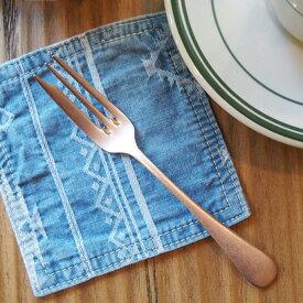 【日本製】 マットな質感のピンクゴールドに深みと質感を感じる!オールドイングリッシュ ヴィンテージ ピンクゴールド ケーキフォーク(OLD ENGLISH Vintage+Pink Gold plated Cake fork) ステンレステーブルウェア・カトラリーシリーズ