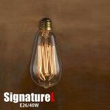 "EdisonBulb""Signature(L)/40W/E26""(エジソンバルブシグネチャー(L)40W/E26)2939SL"