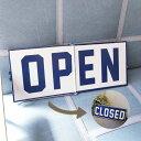 オープン クローズ フリップサイン(OPEN CLOSE FLIP SIGN) メタルサインボード開店・閉店