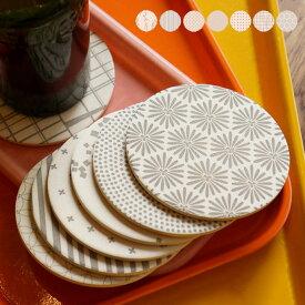キッチン用品 キッチン雑貨 陶器珪藻土コースター WAGAR 丸型 7柄 COASTER 和柄 日本製 bicasa ビカーサ セレクト 珪藻土 コルク 粘土 陶器 美濃焼 ギフト おしゃれ 通販 雑貨 直径9.7cm 厚さ0.6cm MADE IN JAPAN