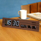 LEDCLOCKAscari(LEDクロックアスカリ)デジタルクロック掛け時計・置時計カラー(ブラック・ゴールド・ウッド)送料無料