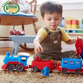 おもちゃ 子供 キッズトレインブルー Train blue GRT-TRNB1054 グリーントイズ Green toys アメリカ製 USA 機関車 男の子 青 おもちゃ 車 玩具 誕生日 プレゼント ギフト 乗り物 おもちゃ 子供 アメリカ製 輸入玩具 ギフト プレゼント 誕生日 出産祝い 2才 3才 4才