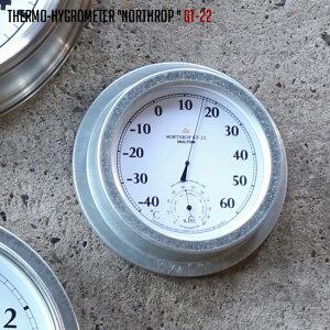 湿温度計 幅285mm サーモ ハイグロメーター ノースロップ GT-22 THERMO HYGROMETER NORTHROP GT-22 ダルトン DULTON K725-929WD 温湿度計 壁掛け スチール ガラス シンプル おしゃれ 男前インテリア インダスト