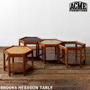 サイドテーブルブルックス ヘキサゴン テーブル BROOKS HEXAGON TABLE アクメ ファニチャー ACME Furniture BEIGE BLA…