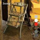 クールヴィンテージ♪ Folding 3-steps ladder 100-252 脚立・梯子・ハシゴ・ステップスツール DULTON'S(ダルトン) 全6色(Ivory/Red/Brown/HammertoneGray/Raw/Galvanized)