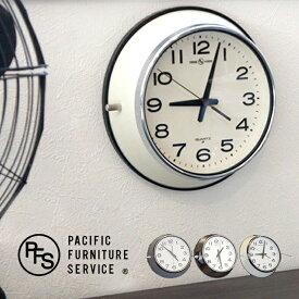 WALL CLOCK(ウォールクロック) OC143 PACIFIC FURNITURE SERVICE(パシフィックファニチャーサービス) カラー(アイボリー/グレー/クローム) 送料無料