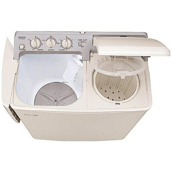 日立 HITACHI PS-H45L-CP 2槽式洗濯機 青空 パインベージュ [洗濯4.5kg /乾燥機能無 /上開き][PSH45L]【洗濯機】