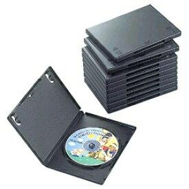エレコム ELECOM DVDトールケース 1枚組収納×10 ブラック CCD-DVD03BK[CCDDVD03BK ]【rb_pcp】