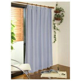 東京シンコール TOKYO SINCOL 2枚組 遮光・防炎ドレープカーテン スキャット(100×135cm/ブルー)[50901141BU]
