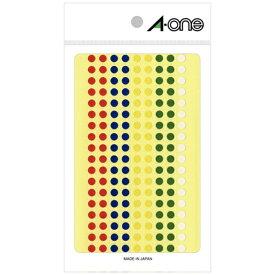 エーワン A-one カラーラベル アソートタイプ 赤・青・黄・緑・白 07074 [はがき /7シート /180面 /光沢]【rb_mmmg】